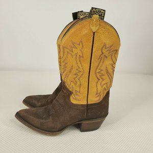 Justin Boots Western Cowboy 6.5 Womens Brown